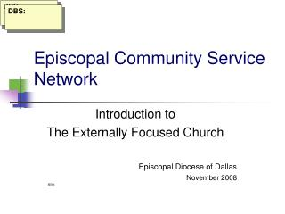 Episcopal Community Service Network