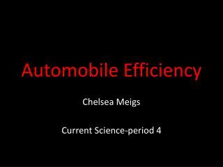 Automobile Efficiency