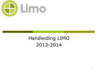 Handleiding LIMO 2013-2014