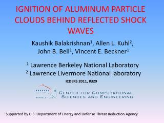 IGNITION OF ALUMINUM PARTICLE CLOUDS BEHIND REFLECTED SHOCK WAVES
