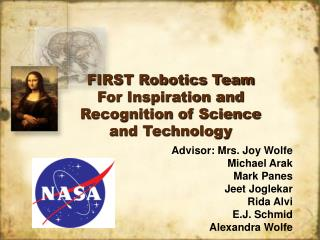 FIRST Robotics Team For Inspiration and Recognition of Science and Technology