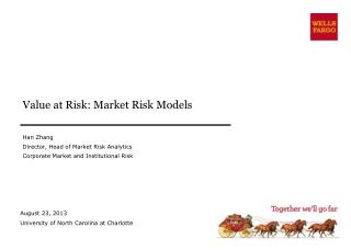 Value at  Risk: Market Risk Models