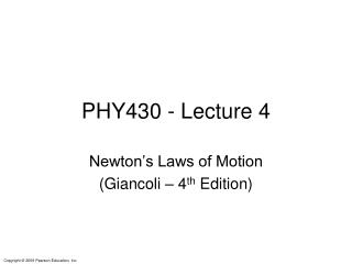 PHY430 - Lecture 4