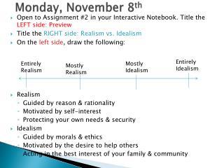 Monday, November  8 th