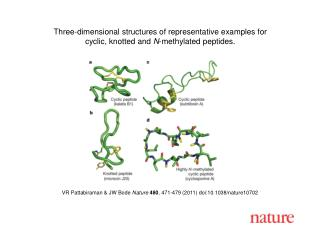 VR Pattabiraman & JW Bode  Nature 480 , 471-479 (2011) doi:10.1038/nature10702