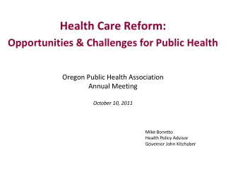 Medicare, Health Reform, and You