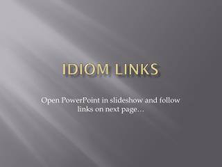 Idiom Links