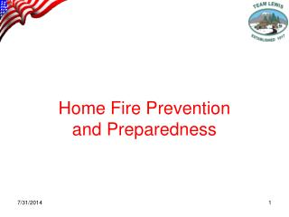 Home Fire Prevention and Preparedness