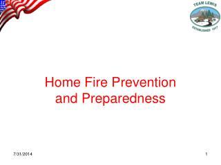 Home Fire Prevention and Preparedness