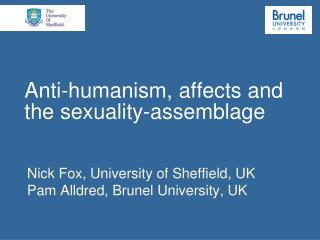 Anti-humanism, affects and the sexuality-assemblage