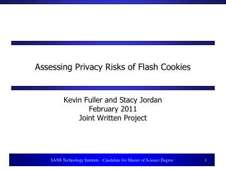 Assessing Privacy Risks of Flash Cookies