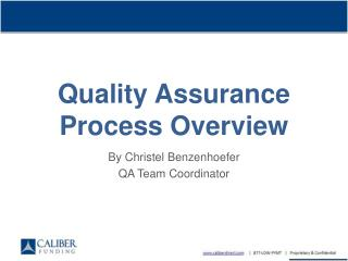 Quality Assurance Process Overview