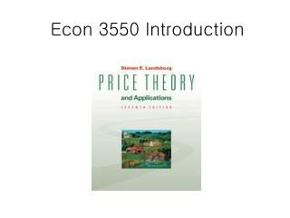 Econ 3550 Introduction