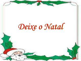 Deixe o Natal