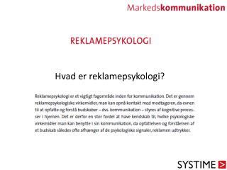 Hvad er reklamepsykologi?