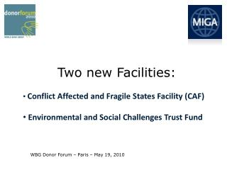 Conflict  Affected and Fragile States  Facility (CAF)