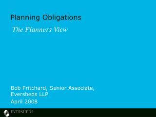 Planning Obligations