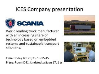 ICES Company presentation