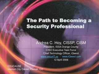 The Path to Becoming a Security Professional