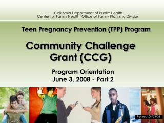 Community Challenge Grant (CCG)