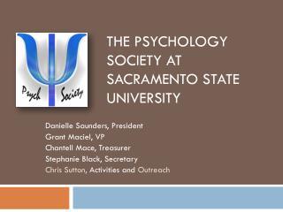 The Psychology Society at Sacramento State University
