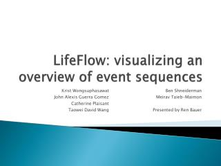 LifeFlow : visualizing an overview of event  sequences