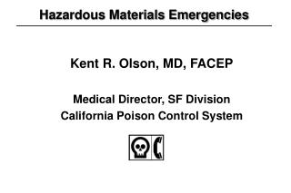 Hazardous Materials Emergencies