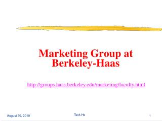 Marketing Group at Berkeley-Haas
