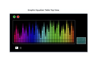 Graphic Equalizer Table Top View