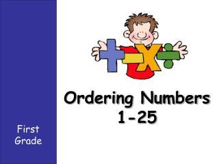 Ordering Numbers  1-25