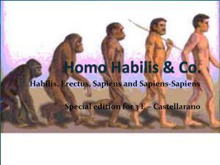Homo  Habilis  & Co.
