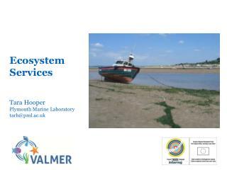 Ecosystem Services Tara Hooper Plymouth Marine Laboratory tarh@pml.ac.uk