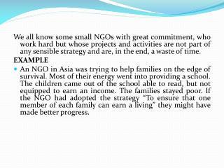 Choosing good strategies and goals