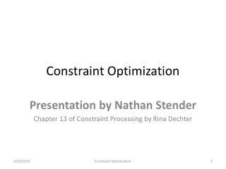 Constraint Optimization