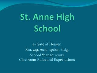 St. Anne High School