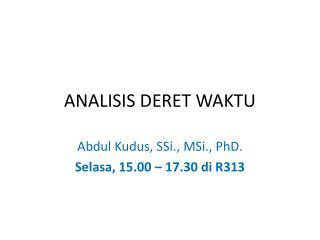 ANALISIS DERET WAKTU