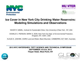 Ice Cover in New York City Drinking Water Reservoirs: Modeling Simulations and Observations