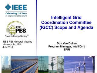 Intelligent Grid Coordination Committee (IGCC) Scope and Agenda