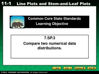 7.SP.3 Compare two numerical data distributions.