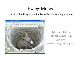 Holey-Moley - metrics of setting a baseline for web vulnerability scanners
