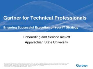 Gartner for Technical Professionals Ensuring Successful Execution of Your IT Strategy