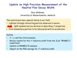 Update on High Precision Measurement of the Neutral Pion Decay Width