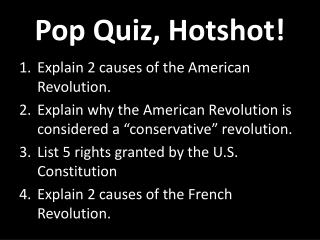 Pop Quiz, Hotshot!