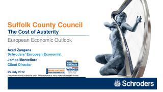 European Economic Outlook