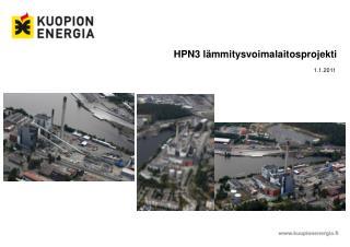 HPN3 lämmitysvoimalaitosprojekti