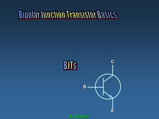 The BJT   Bipolar Junction Transistor