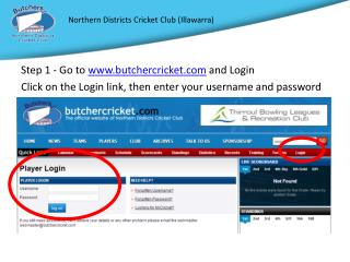 Step 1 -  Go to  butchercricket  and Login