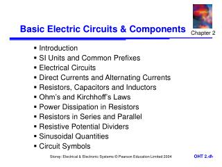 Basic Electric Circuits  Components