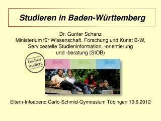 Eltern-Infoabend Carlo-Schmid-Gymnasium Tübingen 19.6.2012