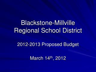 Blackstone-Millville Regional School District